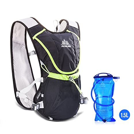 AONIJIE Running Hydration Vest Pack Outdoors Mochilas for Marathon Hiking Cycling with Soft Water Bag 1.5