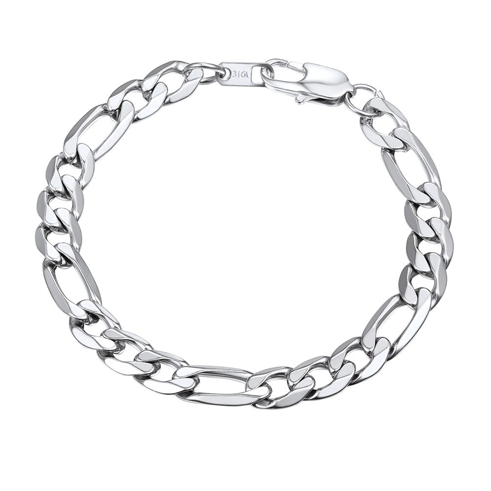 PROSTEEL Men Jewelry Big Chunky Bracelet Husband Groomsman 13mm 7.5'' Stainless Steel Figaro Link Chain Bracelet by PROSTEEL
