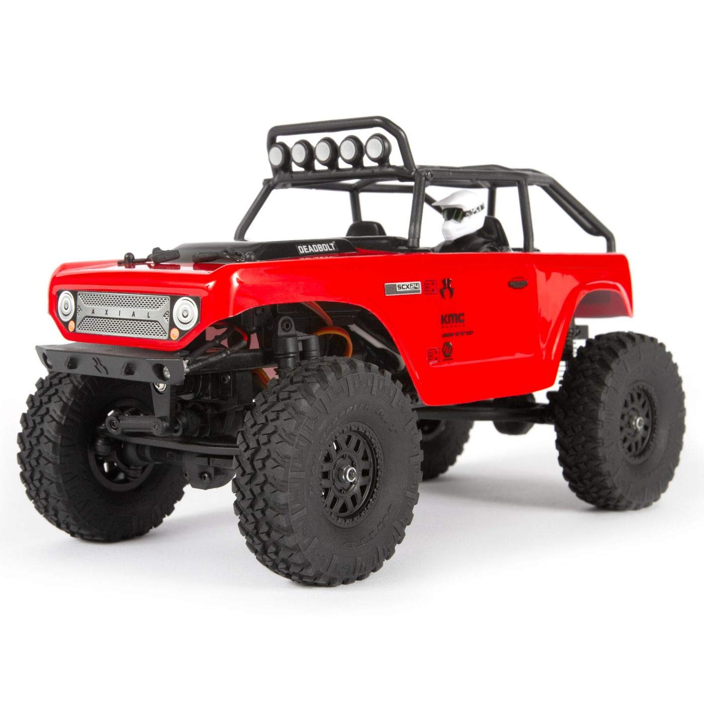 Axial 1/24 SCX24 Deadbolt 4WD Rock Crawler Brushed RTR, Red, AXI90081T1