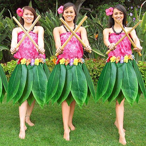 gaeruite Falda de hula de hojas hawaianas, falda de hierba ...