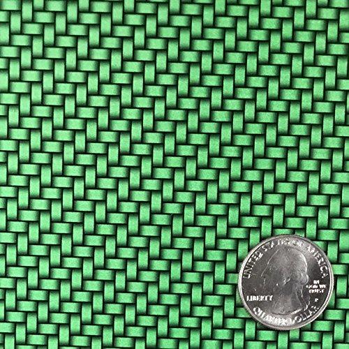 CANDIED DARK GREEN CARBON FIBER WEAVE HYDROGRAPHIC WATER TRANSFER FILM DIP APE