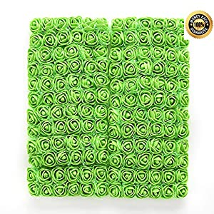 FLOWER 144pcs/pack 2cm Mini Foam Rose Artificial Bouquet Multicolor Rose Wedding Decoration Scrapbooking Fake Easter Gift (Green) 1