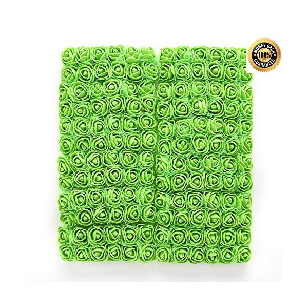 FLOWER-144pcspack-2cm-Mini-Foam-Rose-Artificial-Bouquet-Multicolor-Rose-Wedding-Decoration-Scrapbooking-Fake-Easter-Gift-Green