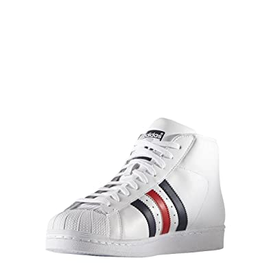 buy popular 7276d 5656a adidas Mens Originals Mens Pro Model Superstar Trainers in White - UK 6.5   Amazon.co.uk  Shoes   Bags