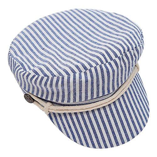 BAOBAO Unisex Classic Stripe Fisherman Beret British Style Fiddler Hat Sailor Hat