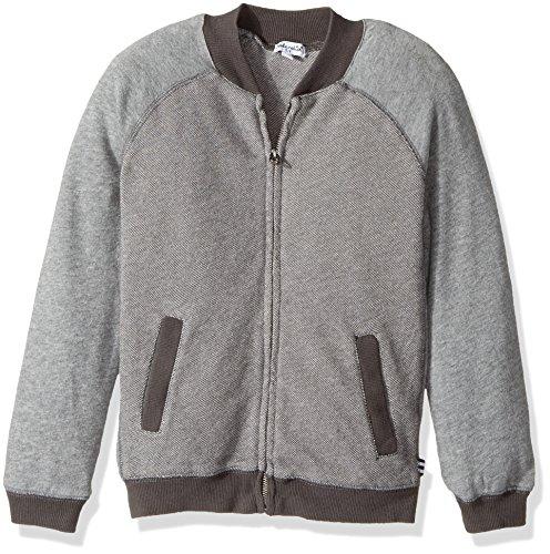 Splendid Little Boys' Birdseye Knit Jacket, Grey, 5/6. Birdseye Jacket