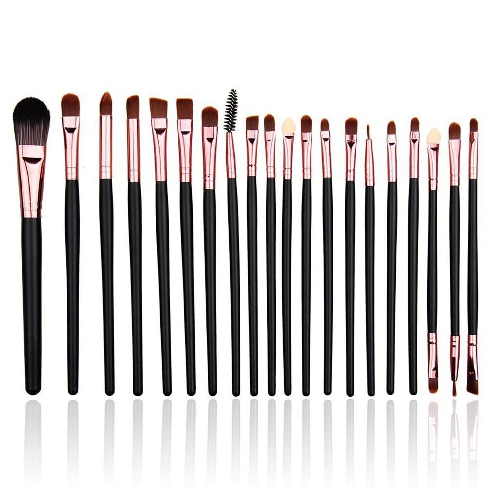 Eye Brushes Set, Eye Makeup Brush Set Eye Shadow Eyeliner Eye brow Foundation Blush Lip Liquid Cream Cosmetics Blending Brush Tool 20 Pieces Daxstar