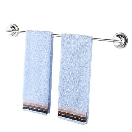 Barra toallero de acero inoxidable Teerfu, 40 cm. Toallero para Baño con Soporte de Pared con Ventosa. Fácil de instalar