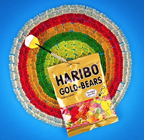 Haribo Goldbears Original Minis, 54-Count Bears in mini bags in 22.8 oz. tub (Pack of 8) by Haribo (Image #2)