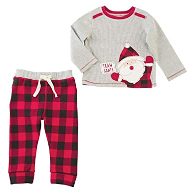 995ddea27787 Amazon.com  Mud Pie Mens Christmas Team Santa Long Sleeve Two-Piece ...