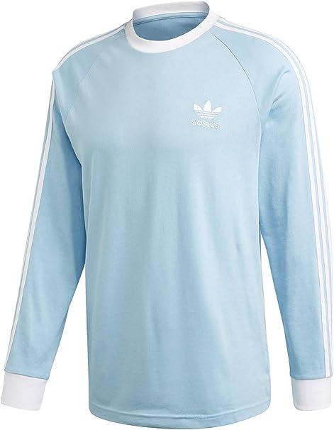 adidas 3 Stripes LS T Camiseta, Hombre