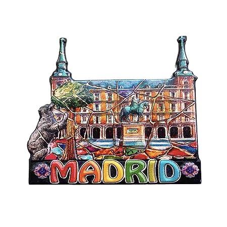 3D Madrid España Refrigerador Imán de Nevera Recuerdos Turísticos ...