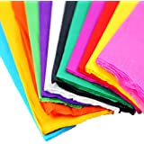 "35""x21"" Crepe Paper Wrapping Florist Craft Streamers Party Birthday Hanging Deco Pack of 10 (10 Colors)"