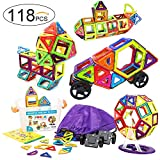 Kyпить Frolk 118 Pcs. Magnetic Building Blocks/Tiles Set for 3D Construction for Kids Age 3+. Educational Toy for girls and boys. Hours of Fun! Comes with Plastic Storage Box and Premium Backpack. на Amazon.com