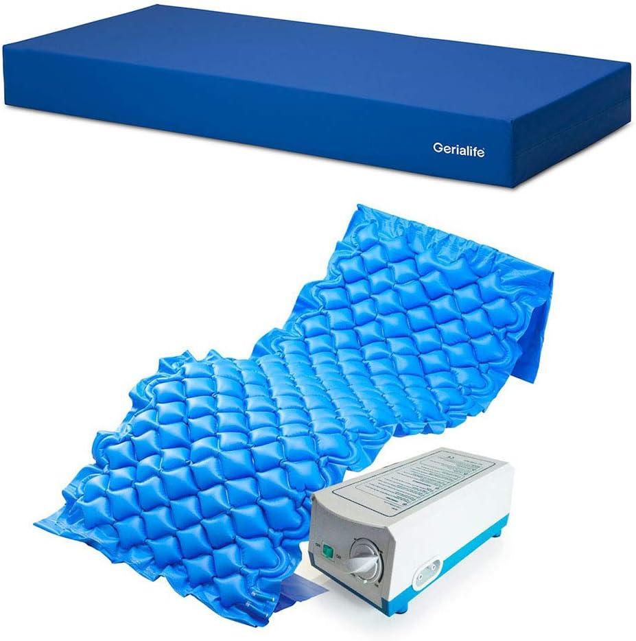 Gerialife® Kit antiescaras | Colchón sanitario impermeable HR | Colchón antiescaras de aire (90x190)