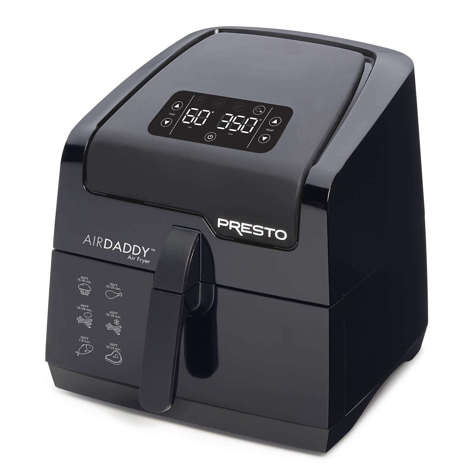 Presto 03422 Digital AirDaddy 4.2-Quart Electric Air Fryer, 4.2qt, Black