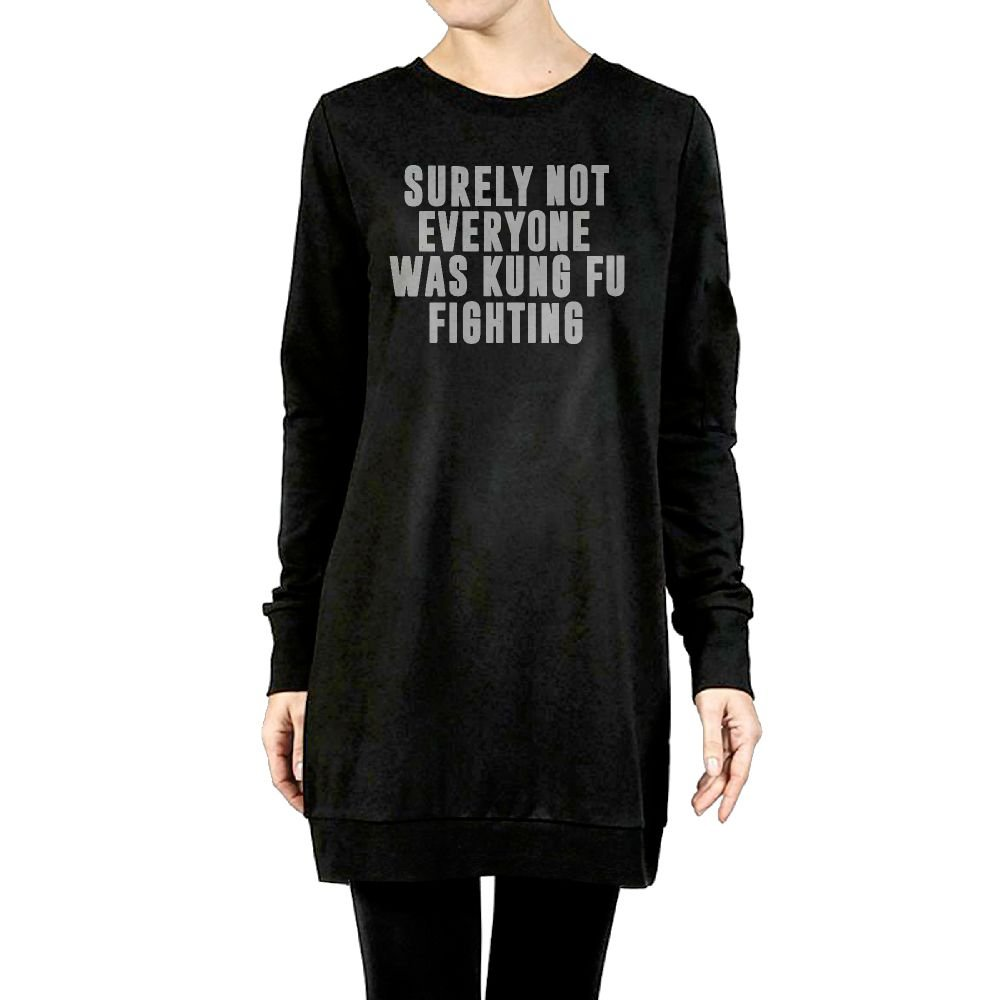 Beauty/&Fashions Surely Not Everyone Was Kung Fu Fighting Women Cotton Fleeces Cool Long Sleeve Jumper Outerwear