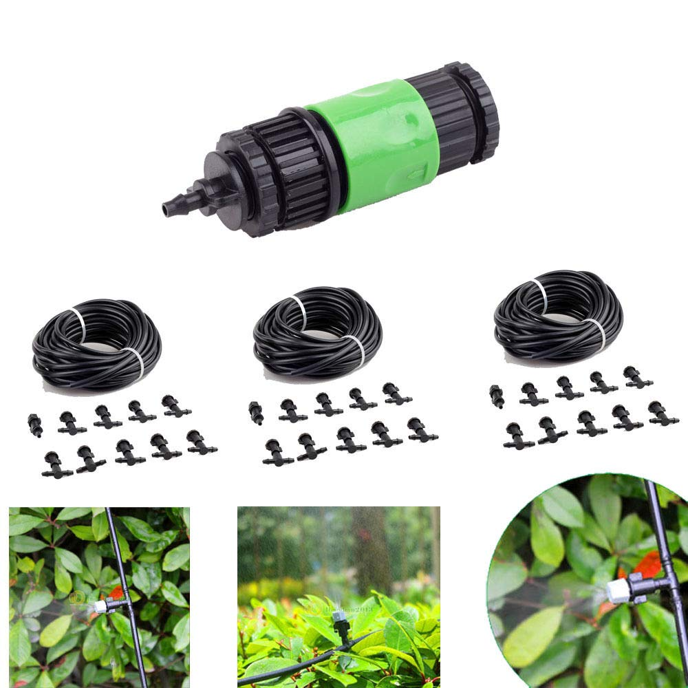 Montree Shop 100ft Outdoor Garden Patio Misting Cooling System 30 Plastic Mist Nozzle by Montree Shop