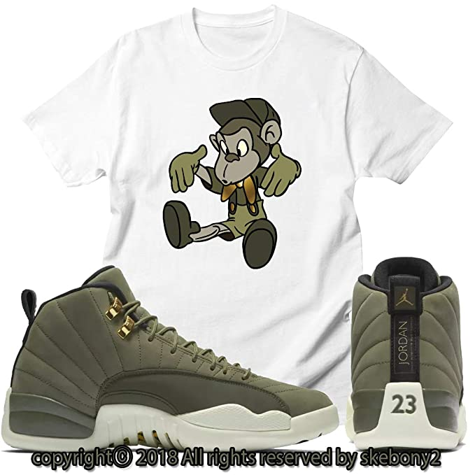 3b12a0801988 Custom T Shirt Matching Air Jordan 12 CP3 Olive Canvas Class of 2003 JD 12-6-13  at Amazon Men s Clothing store