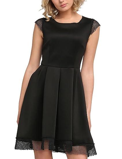 Womens Glamour Golden-Eye & Midnight Forrest-Black Dress Apart Fashion RylTG