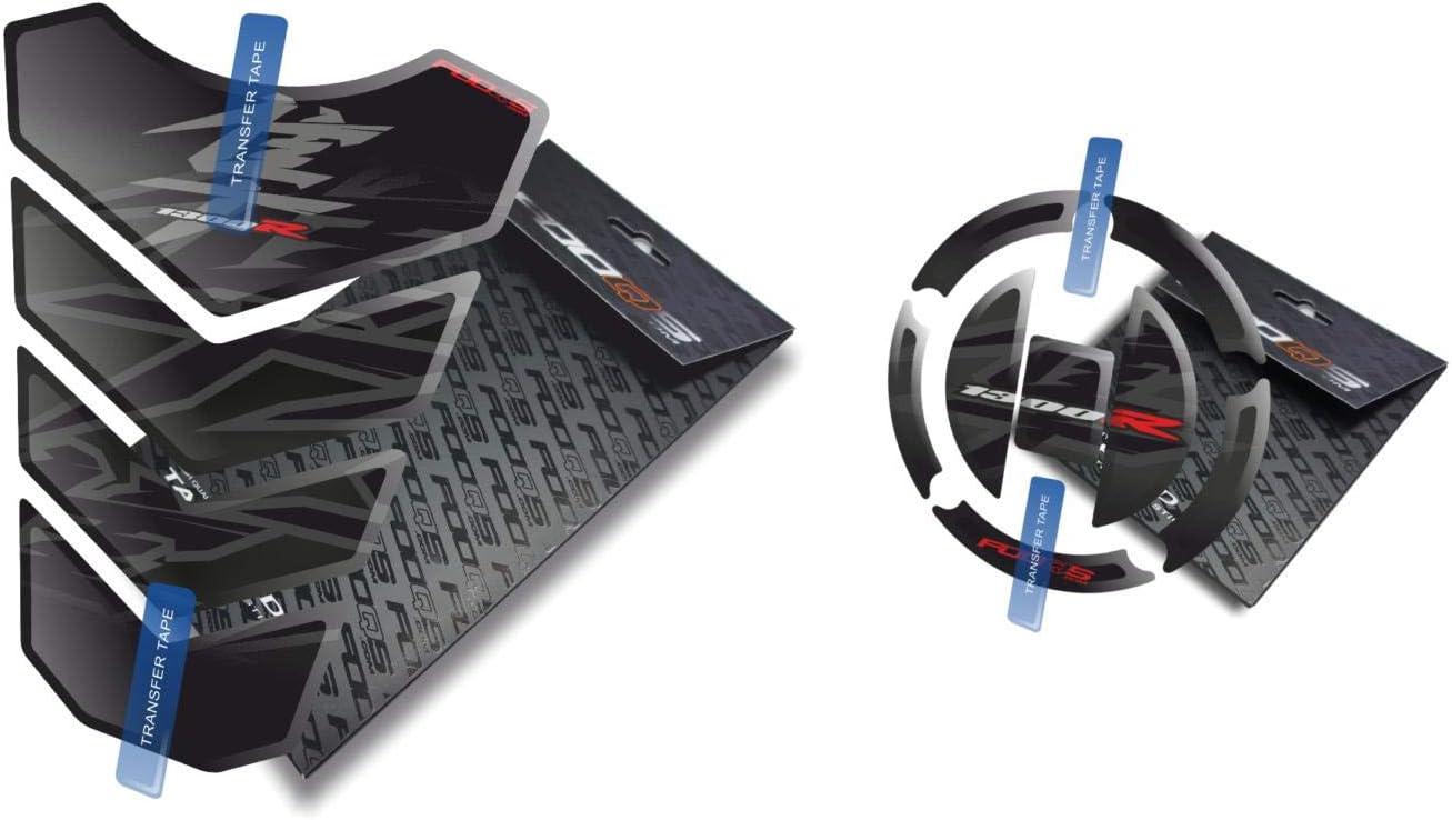Noir Fooqs Tankpad et Cappad pour Suzuki GSX 1300R Hayabusa