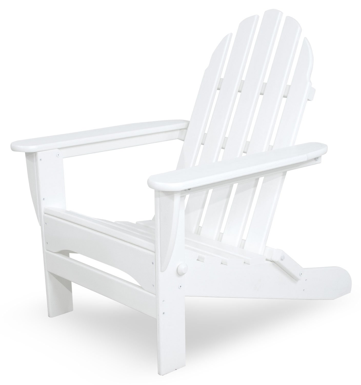 Ivy Terrace IVAD5030WH Classics Folding Adirondack Chair, White