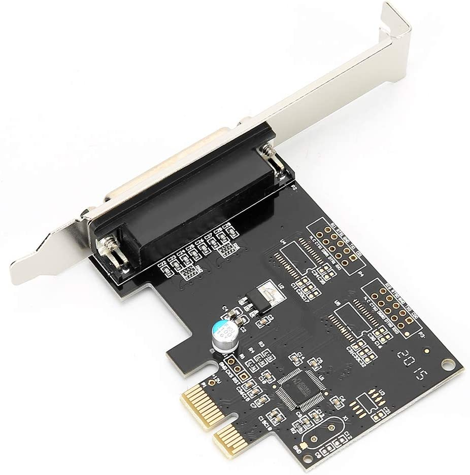 Print Port LPT Card for DOS Windows MAC Linux Support SPP PS2 EPP /& ECP Mode fosa PCIE to Parallel Port Card PCI-E LPT Printer Card 9805 Chip