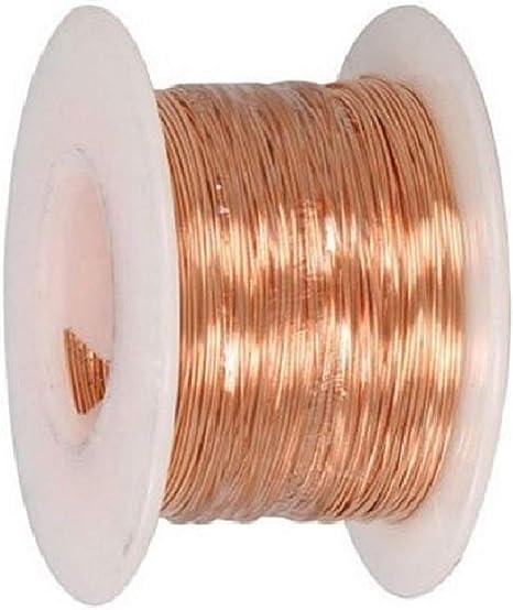 24 Ga Copper Jewelry /& Craft Wire 56 Ft. Coil // 1 Oz HALF HARD  Pure Copper