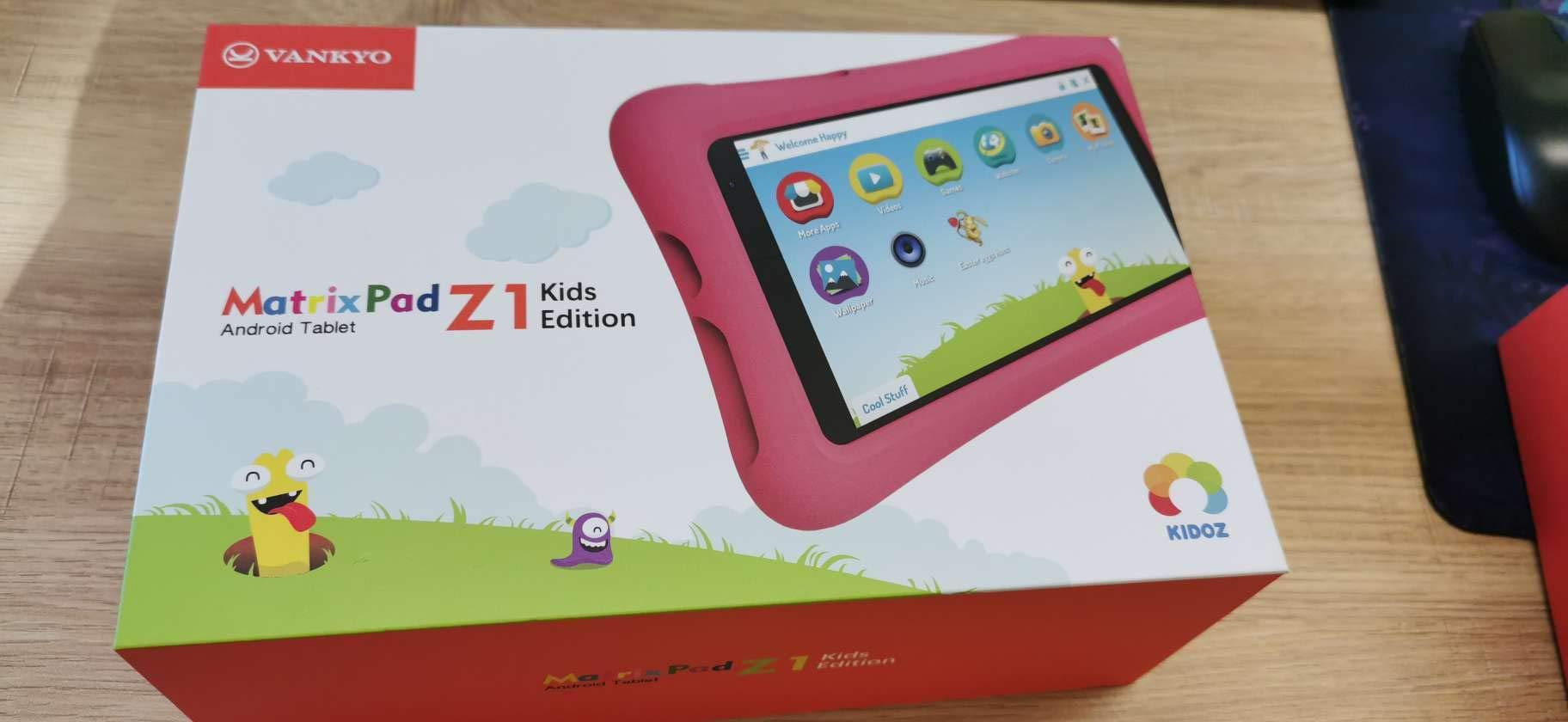 Vankyo MatrixPad Z1 Kids Tablet 7 inch, 32GB ROM, Kidoz Pre Installed, IPS HD Display, WiFi Android Tablet, Kid-Proof Case, Pink by vankyo
