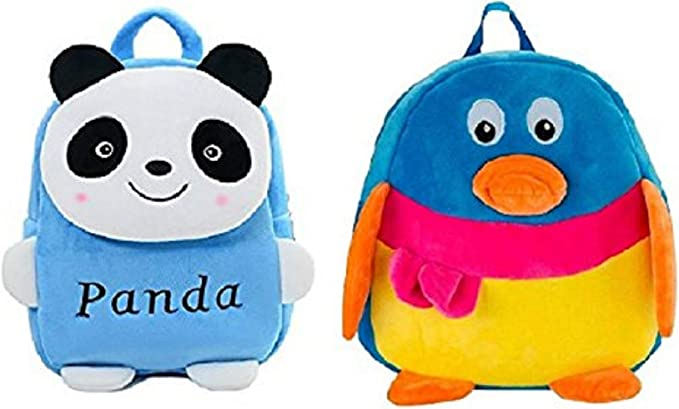Blue Tree School Bag for Kids/Girls/Boys/Children Plush Soft Bag Backpack Panda Duck Cartoon Bag Gift for Kids Cartoon Toy Cute Birthday Return Gift/ School Bag/ Travelling Carry Picnic Bag/ Teddy Bag For Children (Multi color_3 to 5 Year)