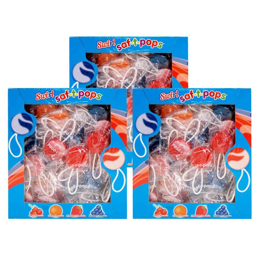 Swirl Saf-T-Pops 3-100 count boxes by Saf-T-Pops