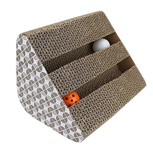 JOLVVN Katzen Kratz Spielzeug, Katzenspielzeug Kratzmöbel Kratzmatte Kratzbaum kratzbretter aus Wellpappe handgefertigt…