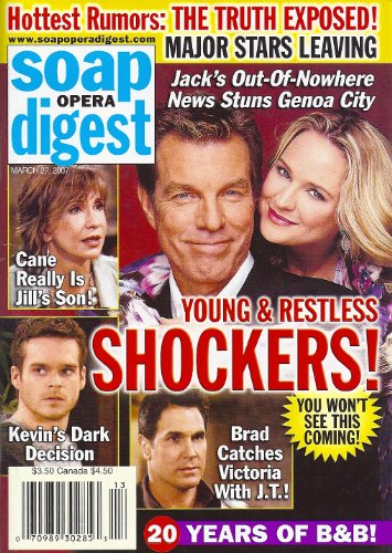Peter Bergman, Sharon Case, Don Diamont, Greg Rikaart, Jess Walton, Young and the Restless - March 27, 2007 Soap Opera Digest Magazine