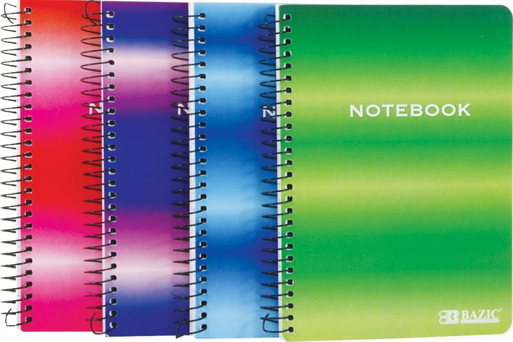 BAZIC 120 Ct. 5'' X 7'' Personal / Assignment Spiral Notebook (Case of 36)