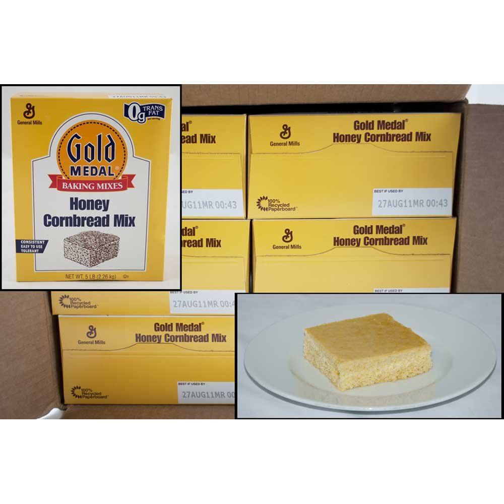 Gold Medal Honey Cornbread Mix 6 Case 5 Pound by General Mills