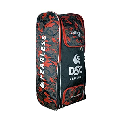 15bca922d065 Buy DSC Valence Ace Cricket Bag (Black Orange) Online at Low Prices in India  - Amazon.in