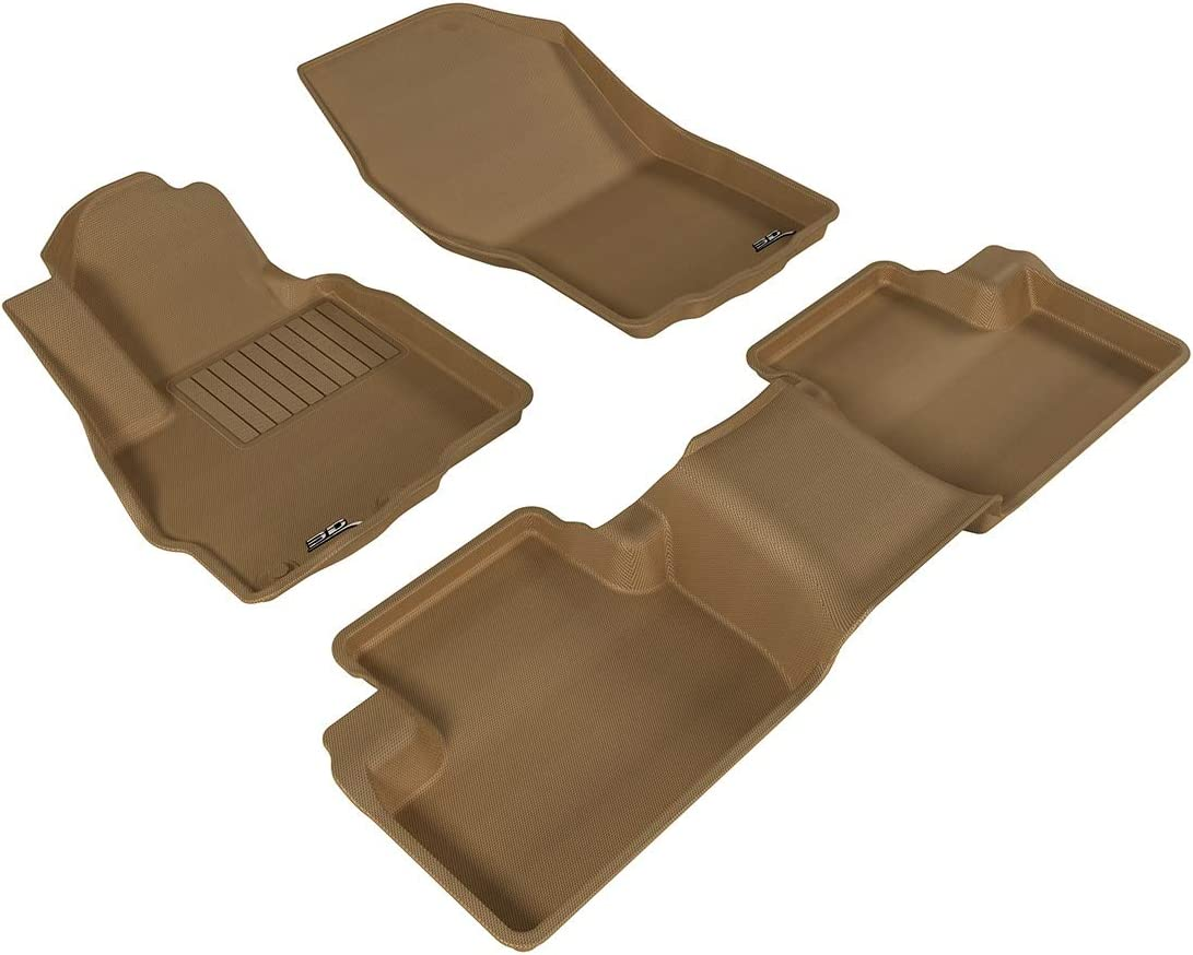 3D MAXpider All 2 Row Custom Fit Floor Mat for Select Mitsubishi Outlander Sport Models - Kagu Rubber (Tan) 61iX5euroPLSL1500_