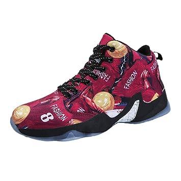 LuckyGirls Zapatillas Baloncesto Calzado Deportivo Color de Mezcla Zapatillas de Correr Running Jogger Bambas de Hombre