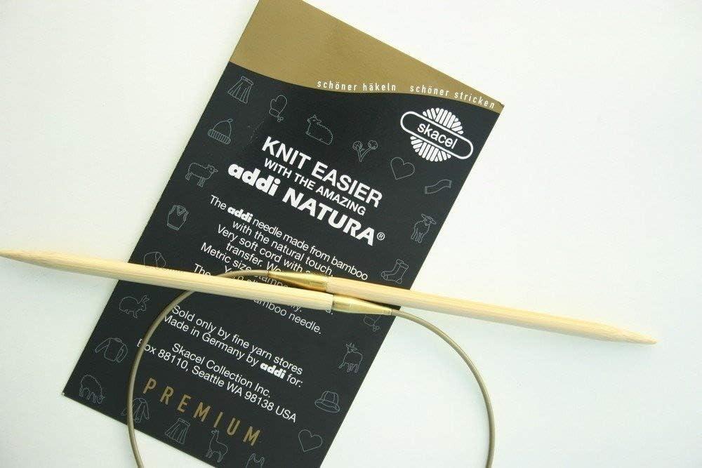 7-3,0-80 Addi Circular Bamboo Knitting Needle 80cm x 3.00mm