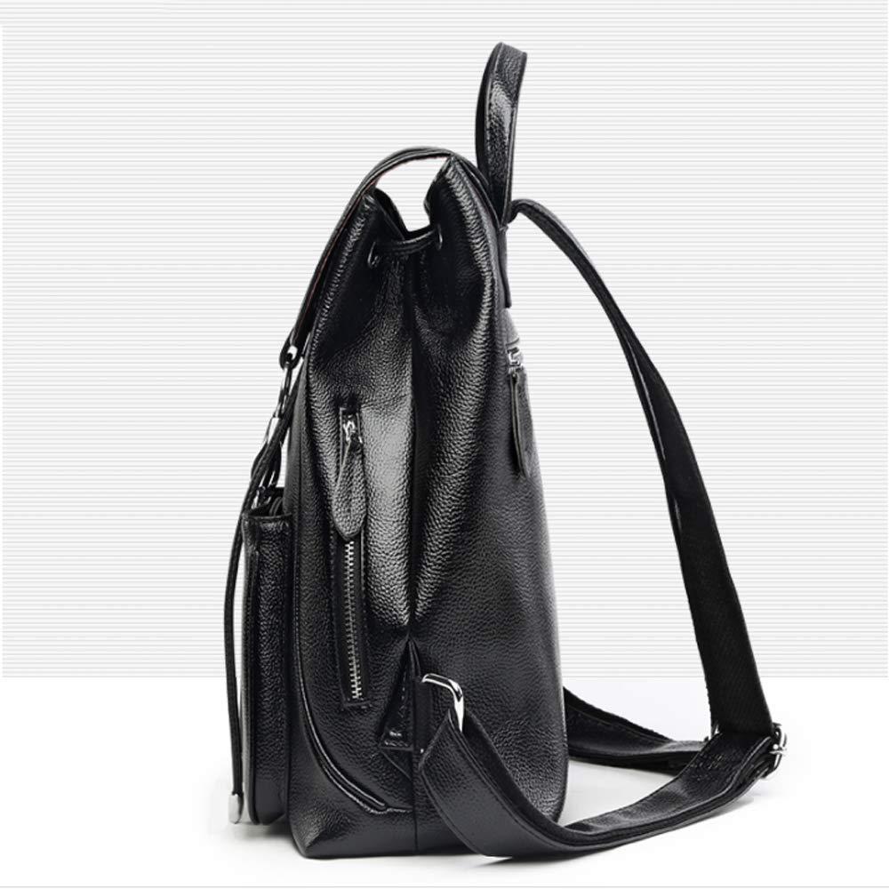 Rucksack - - - Frauen Wild College Wind Kuriertasche Einfache Freizeit Reise Zipper Soft Ledertasche Multifunktions Große Kapazität Dual-Use Rucksack [schwarz] (Farbe   SCHWARZ) B07H4PXRP6 Daypacks Ausgezeichnet 0aed87