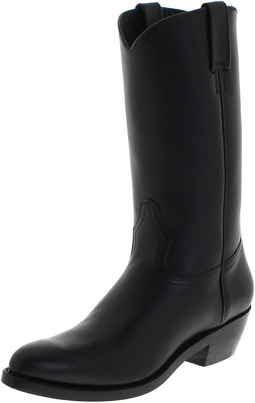 FB Fashion Stiefel 650 Pull up schwarz Lederstiefel für Damen und Herren Schwarz Westernstiefel