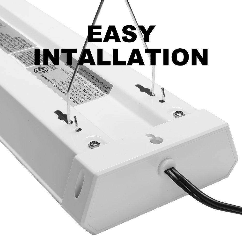 42W Linkable LED Shop Light for Garage BBOUNDER 4FT 5000K LED Work Shop Light LED Utility Shop Light Ceiling Fixture (12 Pack) by BBOUNDER (Image #3)