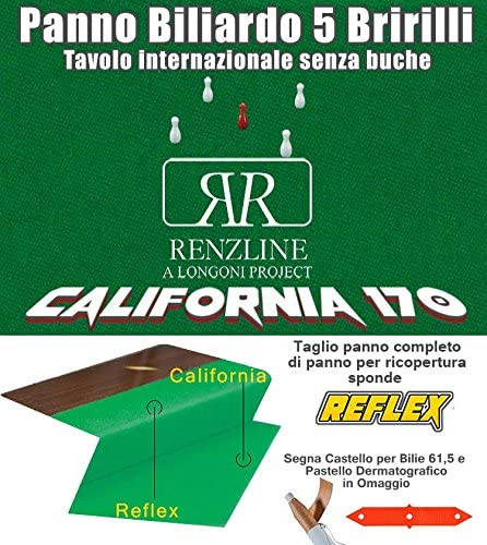 Paño billar Internacional 5 Birilli Renzi Line by Longoni ...
