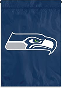 Party Animal Seahawks Premium Garden Flag Applique Embroidered Outdoor Banner Football