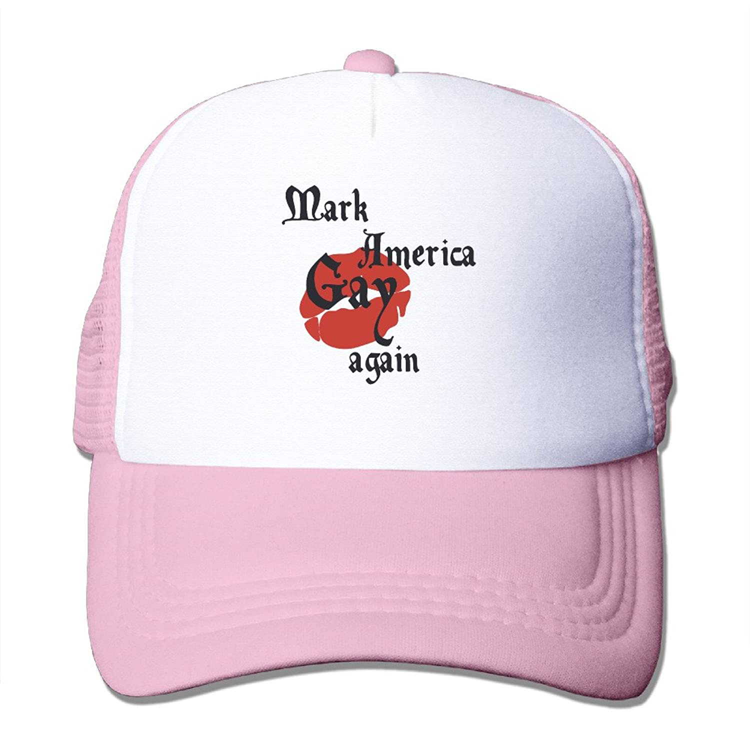 Latest Adult Unisex MAKE AMERICA GAY AGAIN 100% Nylon Mesh Caps Adjustable Trucker Hat