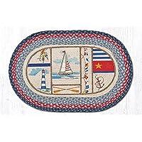 Earth Rugs Oval Nautical Breeze Braided Rug Carpet Mat 20x30