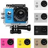 Action Camera HD 720P/1080P/4K Sports Cam - HD WiFi Underwater Camera Diving Waterproof Action Camcorder with Accessories for Kids,Snorkeling,Motorcycle,Bike,Helmet,Car,Ski and Water Sports