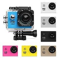 Caméra d'action HD 720P/1080P/4K Cam Sports - HD WIFI Caméra sous-marine plongée Action étanche Caméscope avec des accessoires pour les,plongée en apnée,vélo,casque,voiture,ski et sports nautiques