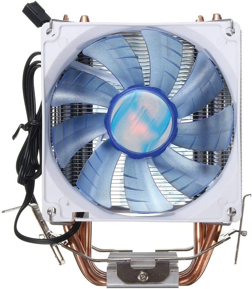 Equipo de refrigeración del ventilador 92mm 3 Pin LED azul de cobre de la CPU refrigerador ventilador del disipador de calor Compatible con Intel LGA775 / 1156/1155 AMD AM2 / 2 + / Negro Ventilador pa