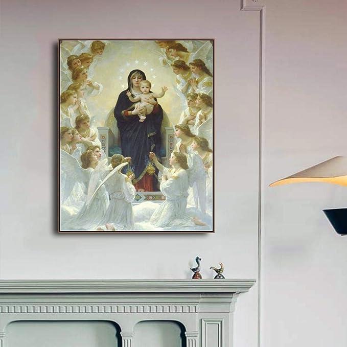 wen-shhen Pintura artística sobre Lienzo de Nuestra Señora del ...